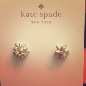 NWOT Bow Stud Earrings by Kate ♠️ Spade ♠️